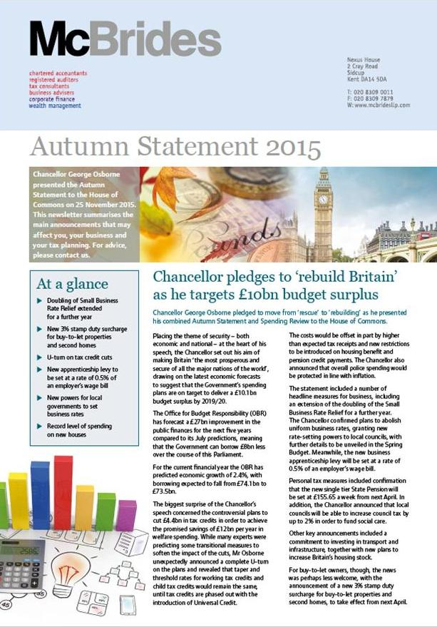 McBrides commentary on 2015 Autumn Statement image