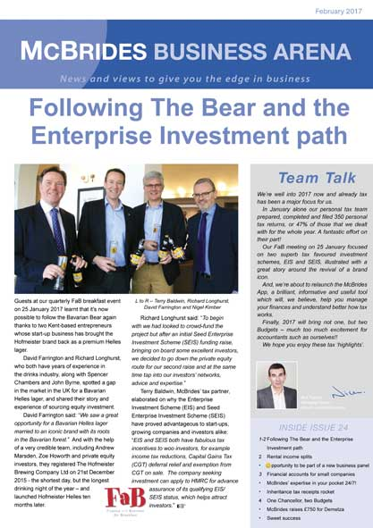 McBrides Business Arena Newsletter - Issue 24 image