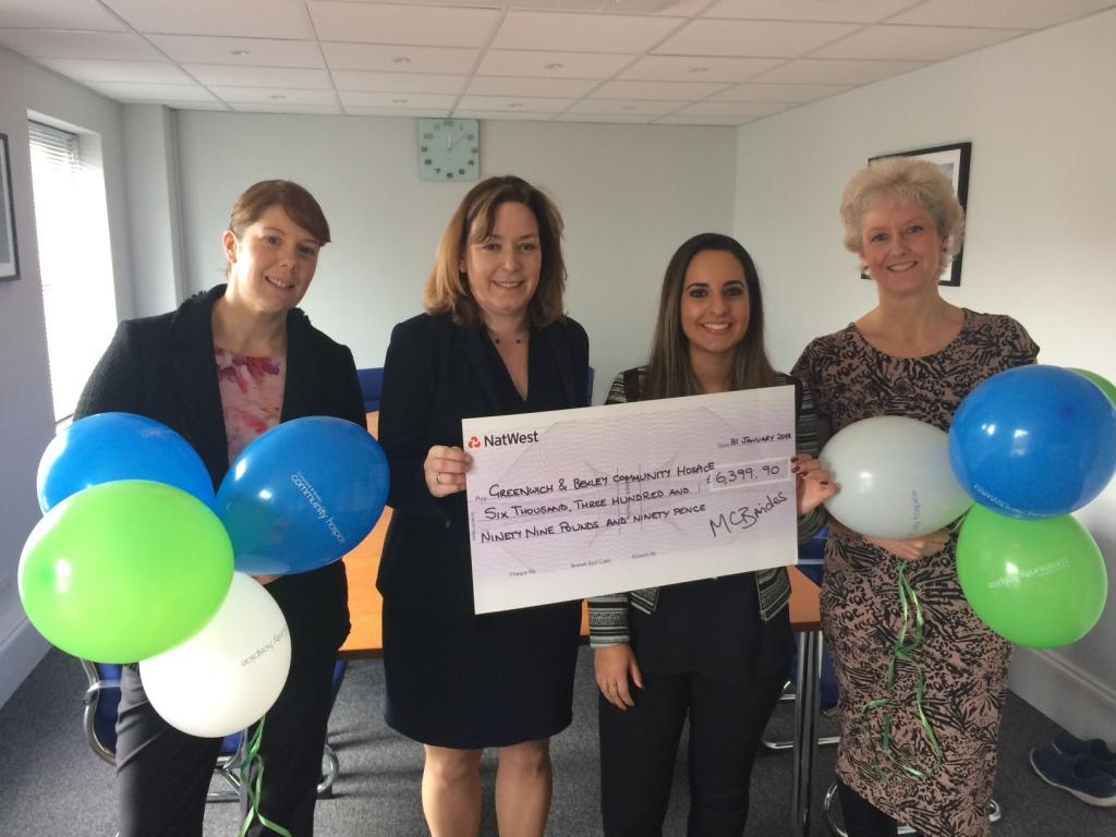 Energetic accountants generate £6k for the Greenwich & Bexley Community Hospice image