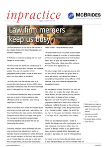 InPractice newsletter for law firms - Issue 6 image
